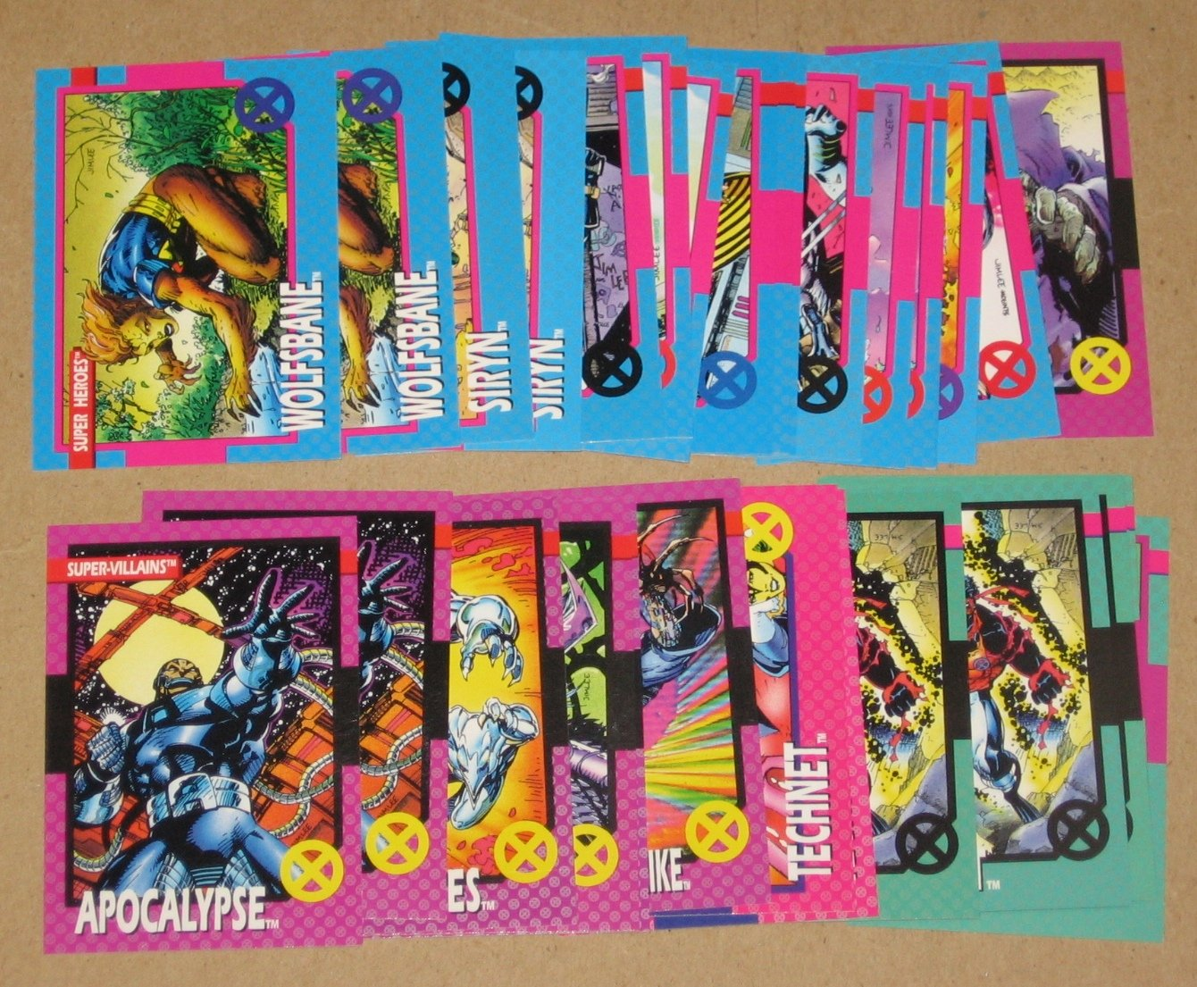 X-Men Series 1 (Impel 1992) - Lot of 32 Cards VG
