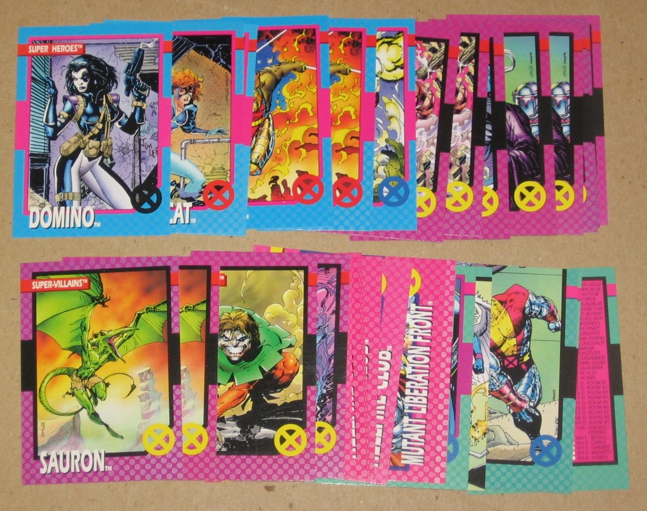 X-Men Series 1 (Impel 1992) - Lot of 32 Cards EX