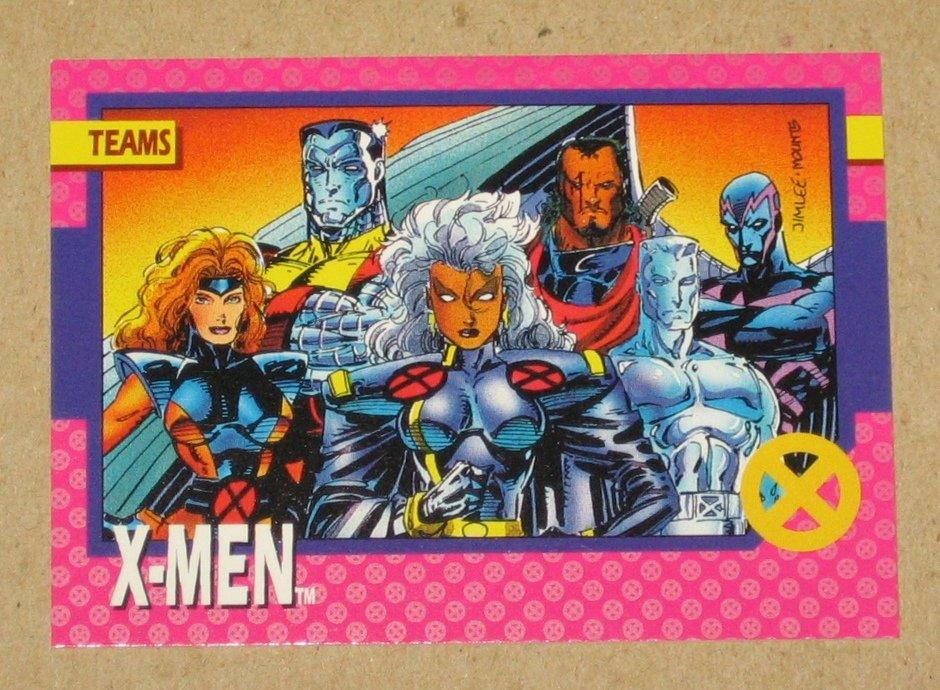 X-Men Series 1 (Impel 1992) Card #71- X-Men VG