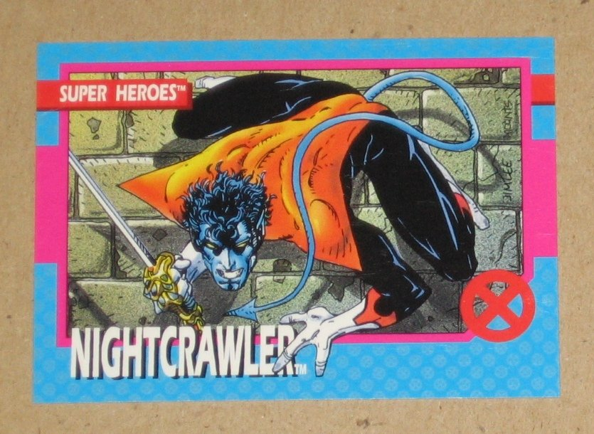 X-Men Series 1 (Impel 1992) Card #6- Nightcrawler VG
