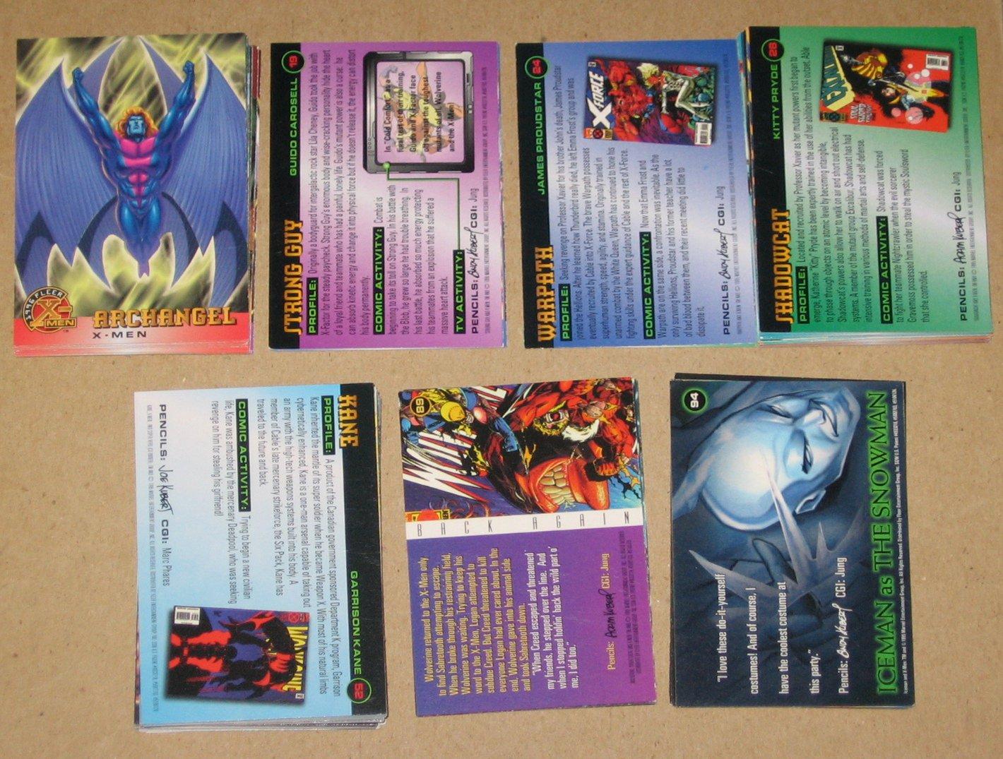 1996 Fleer X-Men (Walmart) - Near Card Set 94/100 VG