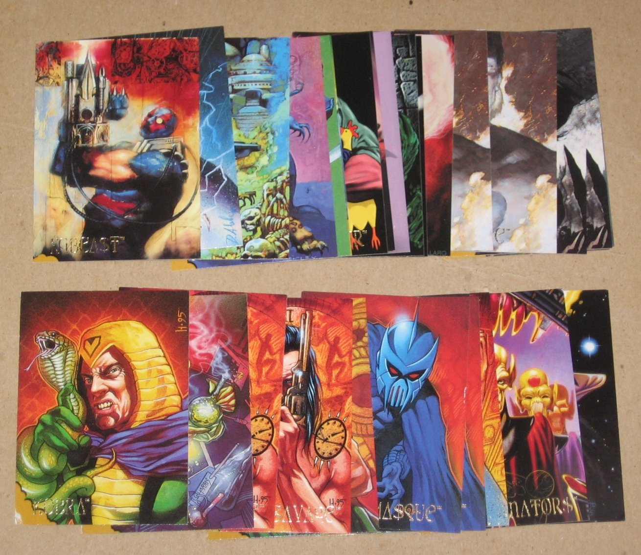 DC Villains Dark Judgment (SkyBox 1995) - Lot of 28 Cards VG/G