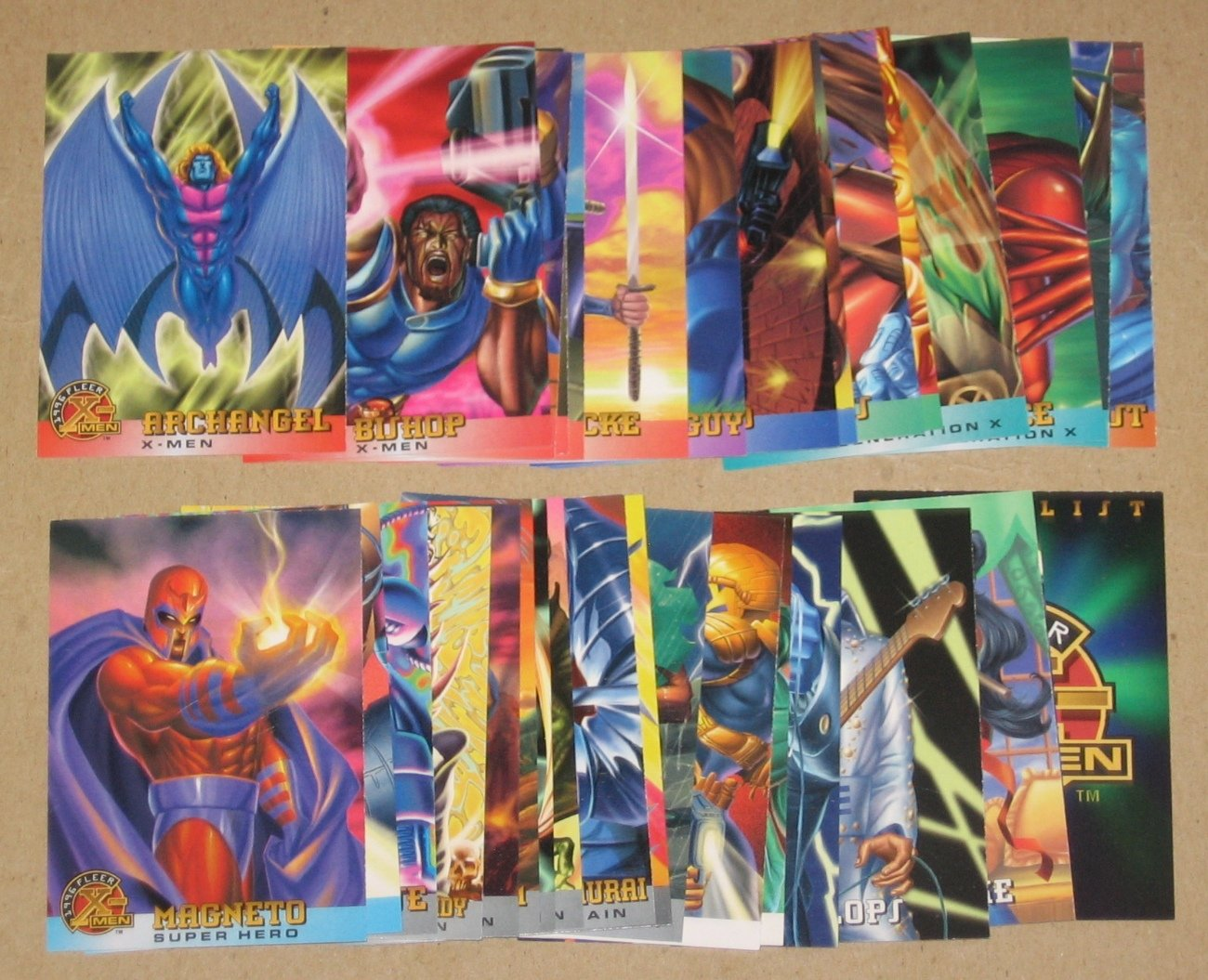 1996 Fleer X-Men (Walmart) - Lot of 33 Cards EX