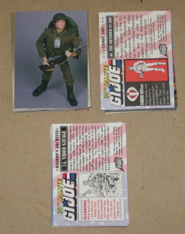 G.I.Joe 30th Salute (Comic Images 1994) - Near Card Set 88/90 VG