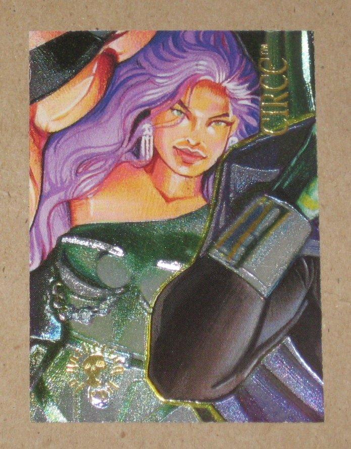 DC Villains Dark Judgment (SkyBox 1995) Spectra-Etch Card ge9 - Circe EX