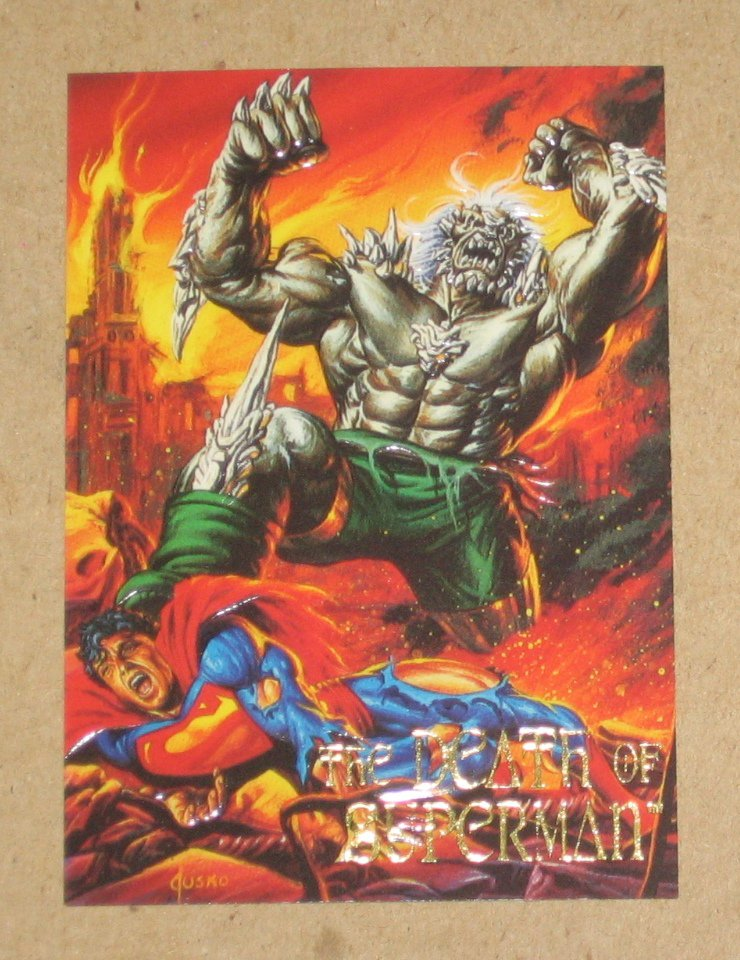 DC Villains Dark Judgment (SkyBox 1995) Foil Embossed Card CC2- The Death of Superman EX