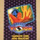 Marvel Vision (Fleer/SkyBox 1996) - Fantastic Four Mini-Magazine VG