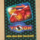 Marvel Vision (Fleer/SkyBox 1996) - Iron Man Mini-Magazine EX
