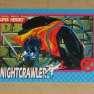 X-Men Series 1 (Impel 1992) Card #6- Nightcrawler NM