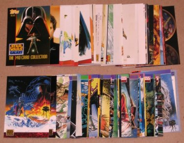 Star Wars Galaxy Series 1 (Topps 1993) - Lot of 81 Cards EX