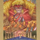 Marvel Metal (Fleer 1995) Silver Flasher Card #115- Sabretooth VG