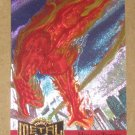 Marvel Metal (Fleer 1995) Metal Blaster Card #6- Human Torch EX