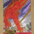 Marvel Metal (Fleer 1995) Metal Blaster Card #6- Human Torch EX-MT