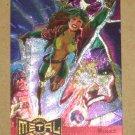 Marvel Metal (Fleer 1995) Metal Blaster Card #10- Rogue EX-MT