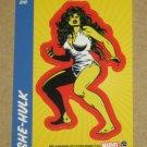 70 Years of Marvel Comics (Rittenhouse 2010) Sticker Card S10- She-Hulk EX