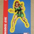 70 Years of Marvel Comics (Rittenhouse 2010) Sticker Card S15- Marvel Girl EX
