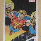 70 Years of Marvel Comics (Rittenhouse 2010) Metalic Ink Parallel Card #52- Quasar 1989 EX