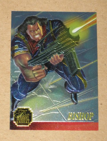 Flair '95 Marvel Annual (Fleer 1995) Chromium Card #10 Bishop EX
