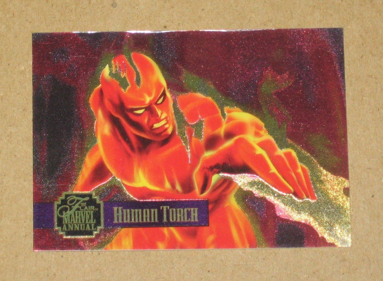 Flair '95 Marvel Annual (Fleer 1995) PowerBlast Card #13- Human Torch VG