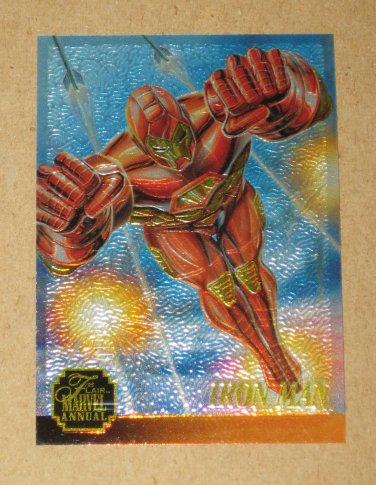Flair '95 Marvel Annual (Fleer 1995) Chromium Card #3- Iron Man EX