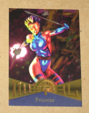 Marvel Metal (Fleer 1995) Card #112- Psylocke EX