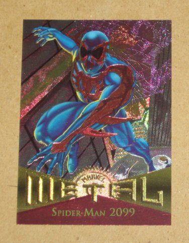 Marvel Metal (Fleer 1995) Card #53- Spider-Man 2099 EX