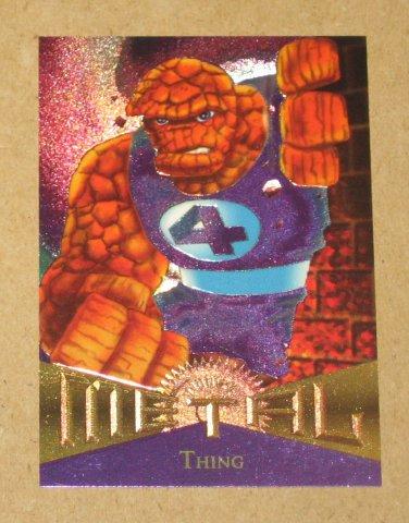 Marvel Metal (Fleer 1995) Card #42- Thing EX