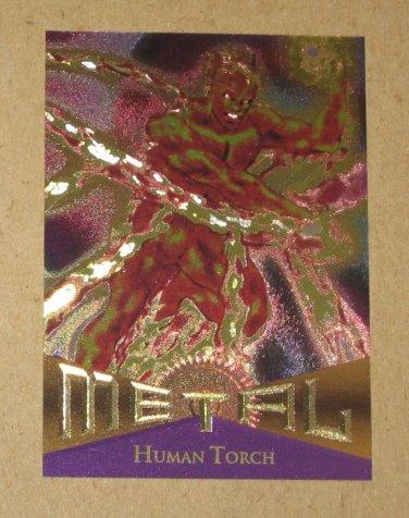 Marvel Metal (Fleer 1995) Card #32- Human Torch EX