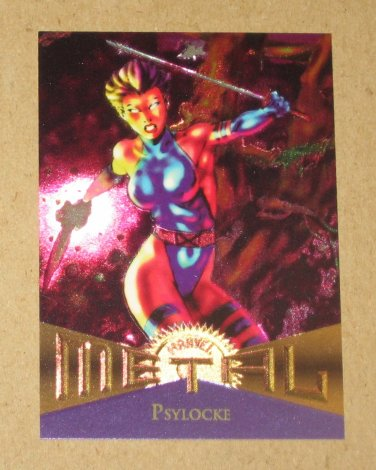 Marvel Metal (Fleer 1995) Card #112- Psylocke EX-MT