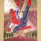 Marvel Metal (Fleer 1995) Card #78- Spider-Man EX-MT