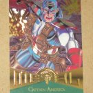 Marvel Metal (Fleer 1995) Card #11- Captain America EX-MT