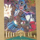 Marvel Metal (Fleer 1995) Card #11- Captain America NM