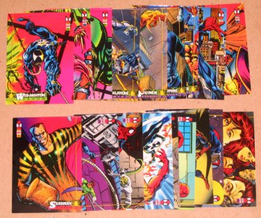 Spider-Man, the Amazing (Fleer 1994) - Lot of 19 Cards PR-FR