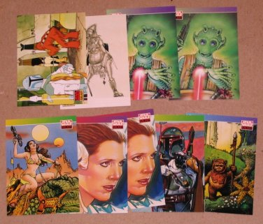 Star Wars Galaxy Series 1 (Topps 1993) - Lot of 9 Cards EX