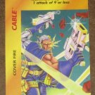 Marvel OverPower (Fleer 1995) - Cable Cover Fire Card NM