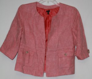 Madison Pink Blazer with 3/4 Sleeves XL
