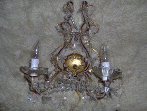 wall sconce chandelier crystal teardrops
