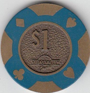 $1 Viejas Valley Brass Chip *