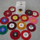 8 ULTRA RARE DOO WOP COLOR WAX REPRO 45s