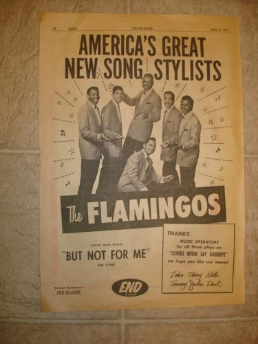 FLAMINGOS ~ Rare 1959 Billboard Ad *