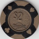 Two Viejas Valley Brass Casino Chips *
