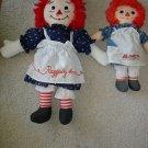2 Rare Pretty Raggedy Ann Dolls *