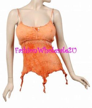 AS Orange Gypsy Tie Dye Tank Top Wholesale (6 Pack)