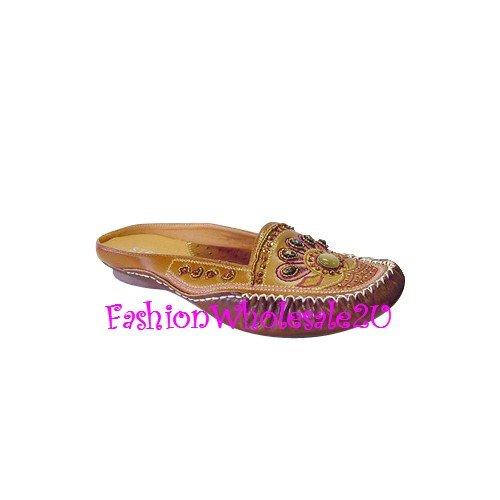 HW Sunburst Wedge Womens Shoes Wholesale (18 Pair) - BROWN