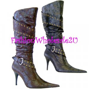 HW NY Diva Fashion Boots Wholesale (12 pair) - BROWN