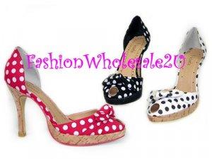 "HW ""Country Girl"" High Heel Womens Shoes Wholesale (18 Pair) - BLACK"