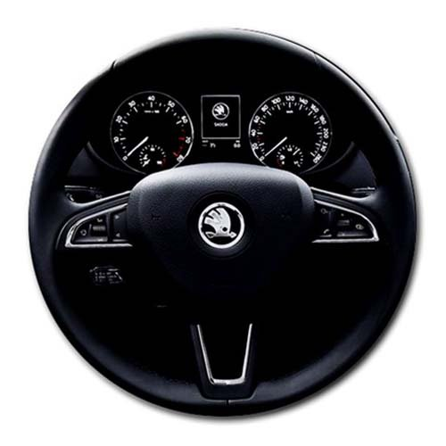 2013 Skoda Octavia Round Mousepad