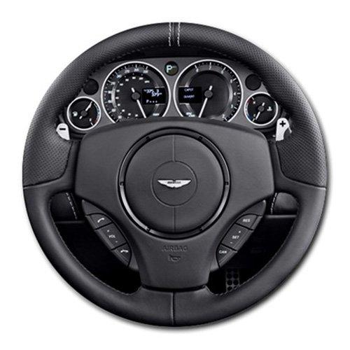 2011 Aston Martin DBS 2 Door Volante Steering Wheel Round Mousepad