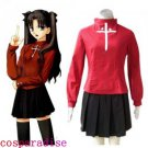 Fate Stay Night Rin Tosaka Cosplay Costume