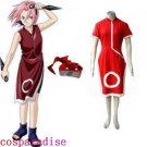Naruto Sakura Haruno Women's Cosplay Costume